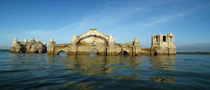 A drowning church, Shettihalli
